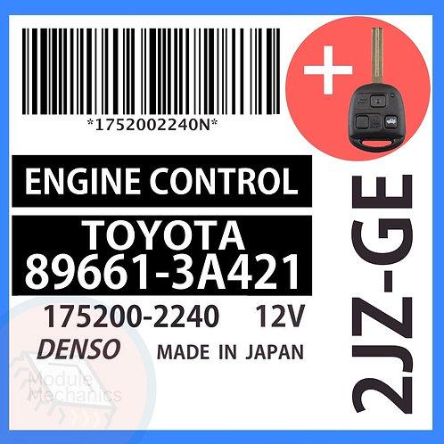 89661-3A421 OEM ECU W/ Programmed Master Key Lexus GS300