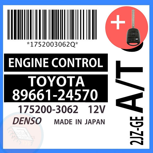 89661-24570 OEM ECU W/ Programmed Master Key Lexus SC300