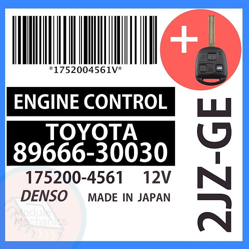 89666-30030 OEM ECU W/ Programmed Master Key Lexus GS300