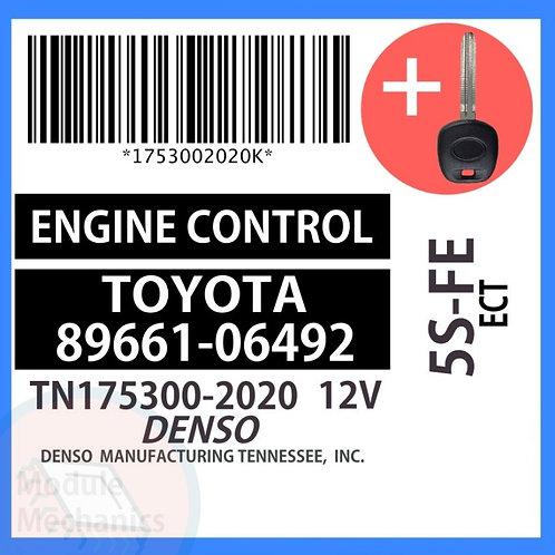 89661-06492 W/ Programmed Master Key Toyota Camry