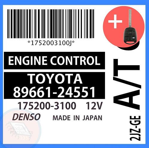 89661-24551 OEM ECU W/ Programmed Master Key Lexus SC300