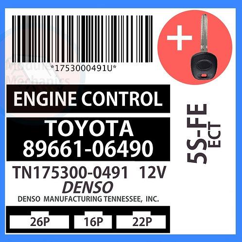 89661-06490 W/ Programmed Master Key Toyota Camry