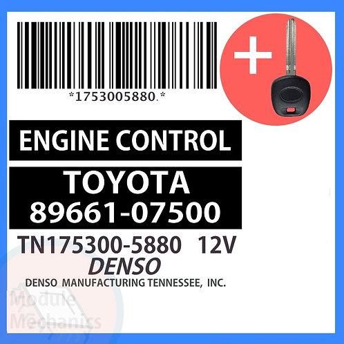 89661-07500 W/ Programmed Master Key Toyota Avalon