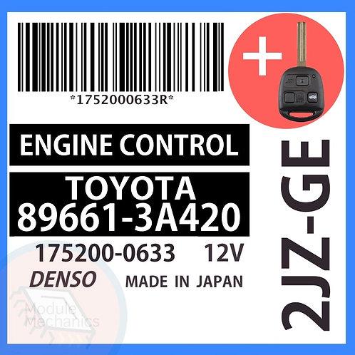 89661-3A420 OEM ECU W/ Programmed Master Key Lexus GS300