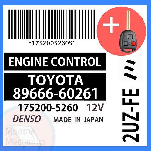 89666-60261 ECU W/ Programmed Master Key Toyota Land Cruiser