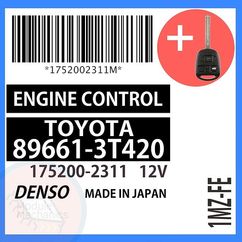 89661-3T420 OEM ECU W/ Programmed Master Key Lexus ES300
