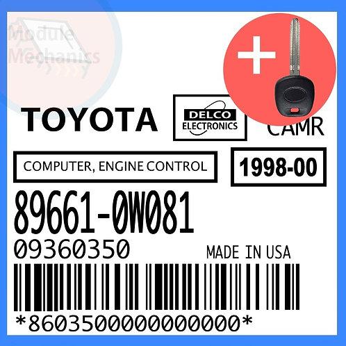 89661-0W081 W/ Programmed Master Key Toyota Camry