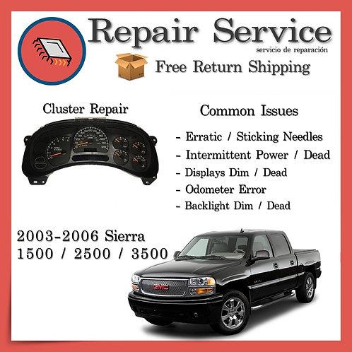 2003-2006 GMC Sierra Gauge Cluster Repair Service