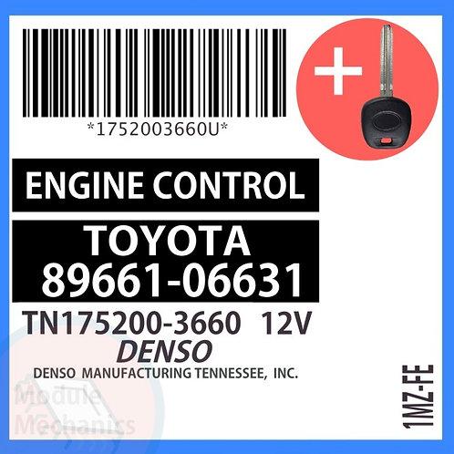 89661-06631 W/ Programmed Master Key Toyota Solara