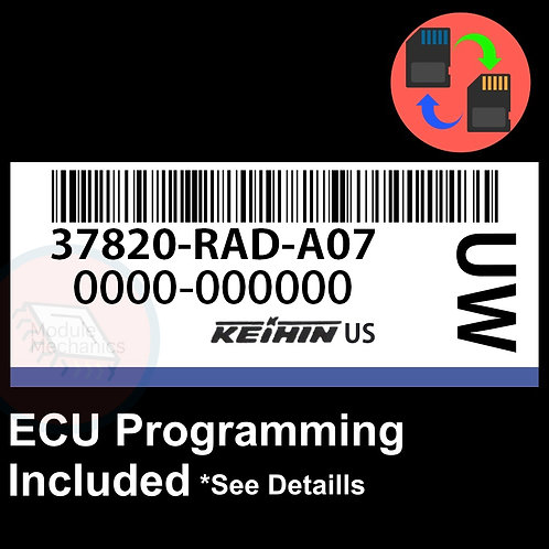 37820-RAD-A07 ECU W/ Immobilizer / Security Programming Honda Accord