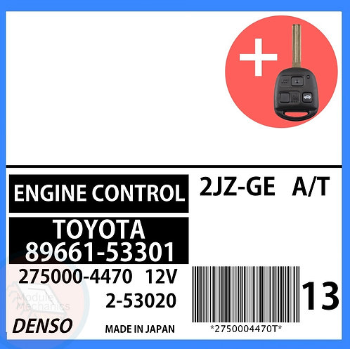 89661-53301 OEM ECU W/ Programmed Master Key Lexus IS300