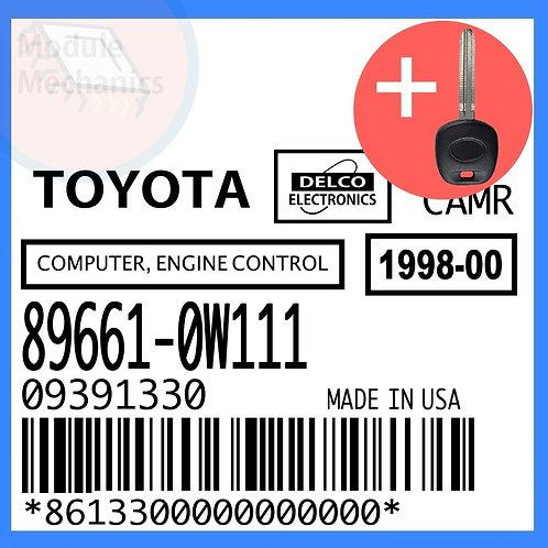 89661-0W111 W/ Programmed Master Key Toyota Camry