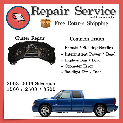 2005 Chevrolet Silverado Cluster Repair Service