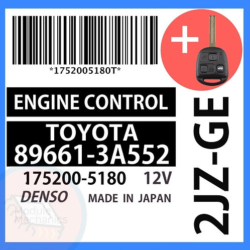89661-3A552 OEM ECU W/ Programmed Master Key Lexus GS300