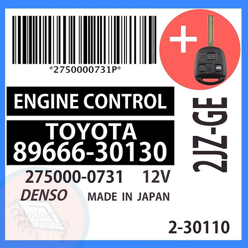 89666-30130 OEM ECU W/ Programmed Master Key Lexus GS300