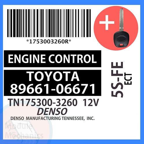 89661-06671 W/ Programmed Master Key Toyota Solara