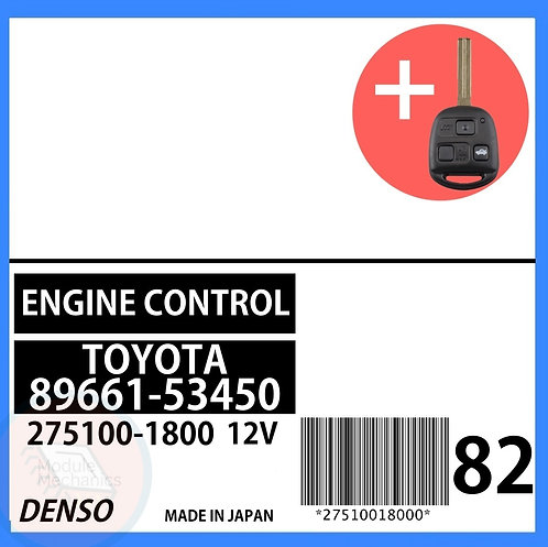 89661-53450 OEM ECU W/ Programmed Master Key Lexus IS300