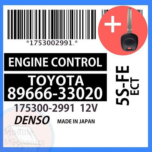 89666-33020 W/ Programmed Master Key Toyota Camry