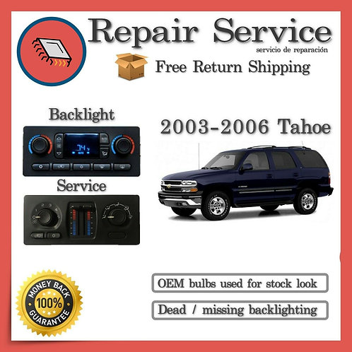 2006 Chevrolet Tahoe Climate Control Repair Service