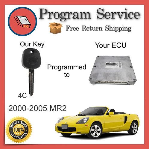 2000-2005 Toyota MR2 ECU to Key Programming Service