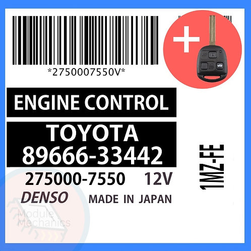 89666-33442 OEM ECU W/ Programmed Master Key Lexus ES300