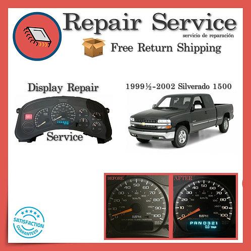 1999-2002 Chevrolet Silverado Gauge Cluster Repair Service