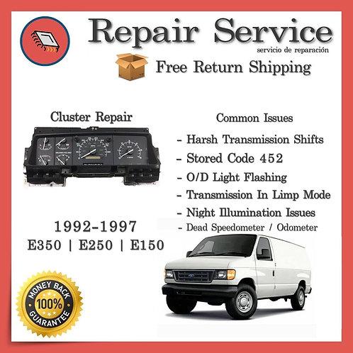 1992-1997 Ford E150 E250 E350 (PSOM) Gauge Cluster Repair Service