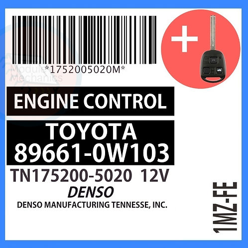 89661-0W103 OEM ECU W/ Programmed Master Key Lexus ES300