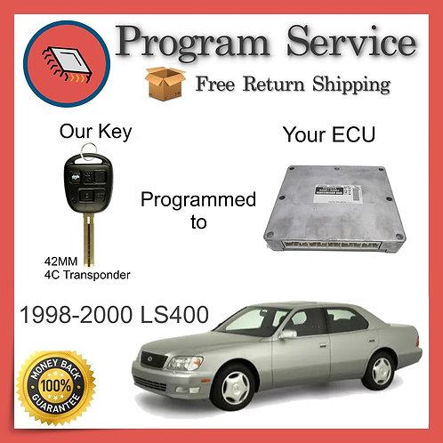 1998-2000 Lexus LS400 ECU to Key Programming Service