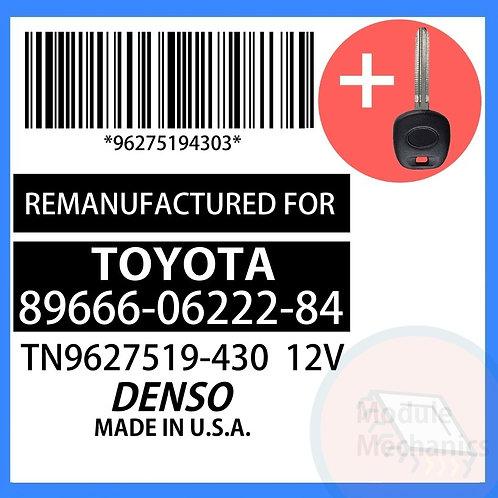 89666-06222-84 W/ Programmed Master Key Toyota Camry