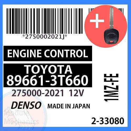 89661-3T660 W/ Programmed Master Key Toyota Camry