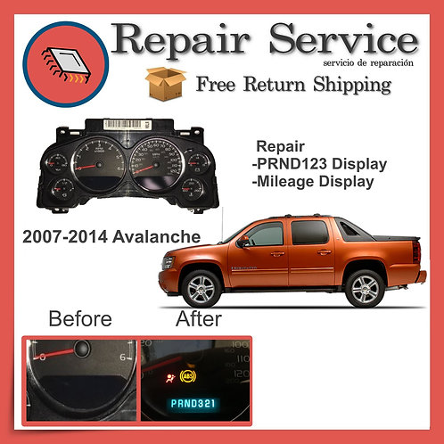 2007-2014 Chevrolet Avalanche Gauge Cluster Repair Service