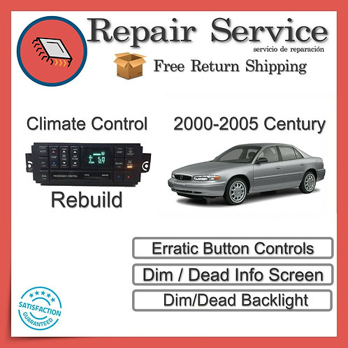 2000-2005 Buick Century Climate Control Repair Service