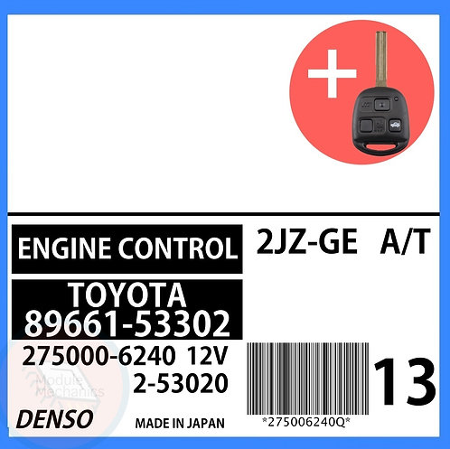 89661-53302 OEM ECU W/ Programmed Master Key Lexus IS300