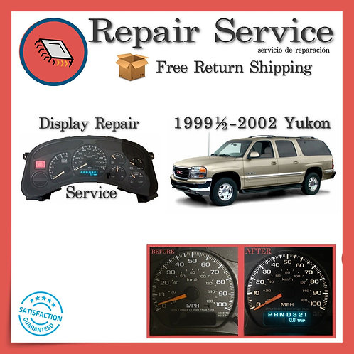 1999-2002 GMC Yukon Gauge Cluster Repair Service