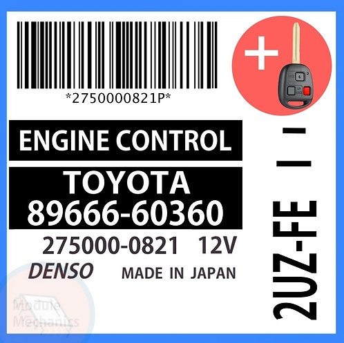 89666-60360 ECU W/ Programmed Master Key Toyota Land Cruiser