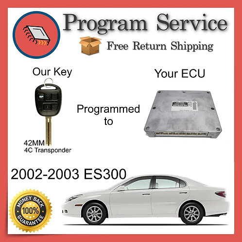 2002-2003 Lexus ES300 ECU to Key Programming Service