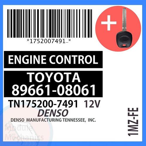 89661-08061 ECU W/ Programmed Master Key Toyota Sienna