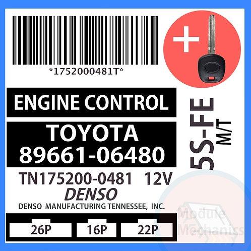 89661-06480 W/ Programmed Master Key Toyota Camry