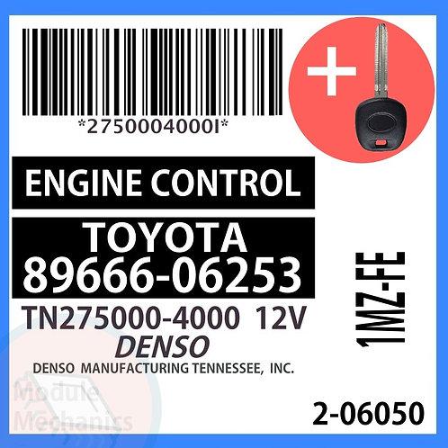 89666-06253 W/ Programmed Master Key Toyota Camry