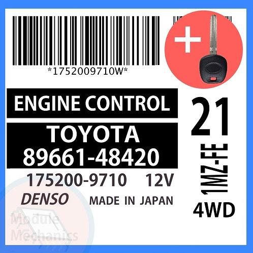 89661-48420 ECU W/ Programmed Master Key Toyota Highlander