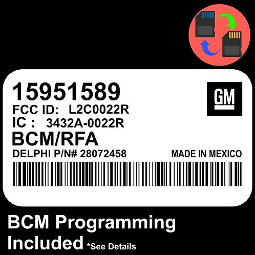 15951589  W/ PROGRAMMING Chevrolet Colorado BCM BCU Body Control Module