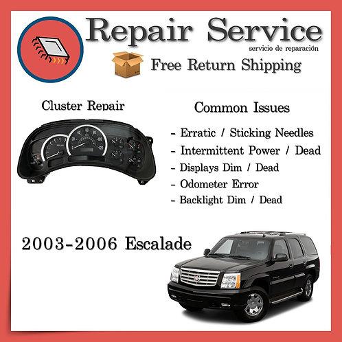 2003-2006 Cadillac Escalade Gauge Cluster Repair Service