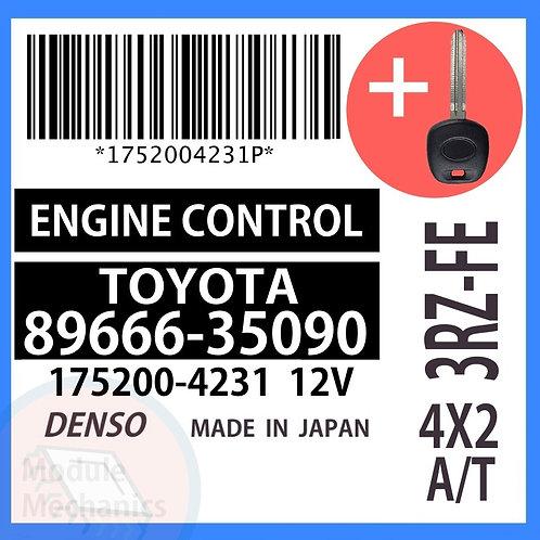 89666-35090 OEM ECU W/ Programmed Master Key Toyota 4Runner
