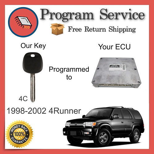 1998-2002 Toyota 4Runner ECU to Key Programming Service