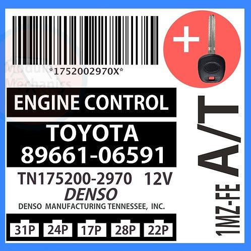 89661-06591 W/ Programmed Master Key Toyota Camry