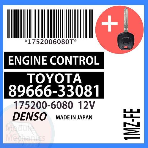89666-33081 W/ Programmed Master Key Toyota Camry