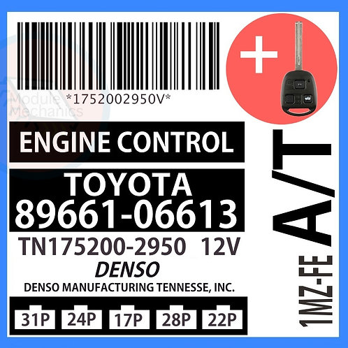 89661-06613 OEM ECU W/ Programmed Master Key Lexus ES300