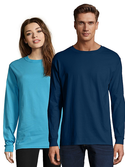 Hanes Long Sleeve Navy Tee