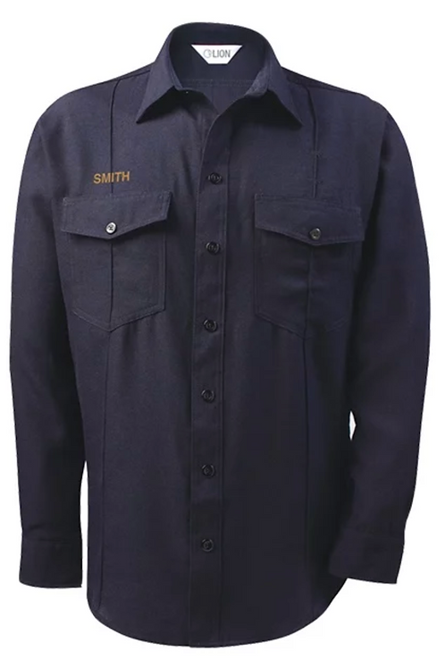 Navy button-up shirt *1-1